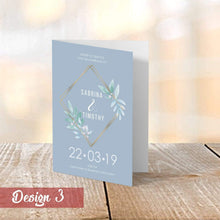 Load image into Gallery viewer, Aspire Designs Personalised Vintage Floral Wedding Order of Service Folded Cards | A6 Size 1 / No / Yes