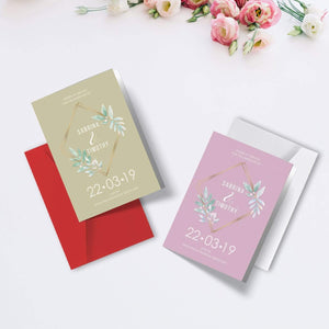 Personalised Vintage Floral Wedding Order of Service Folded Cards | A6 Size
