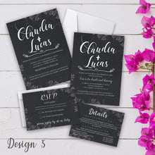 Load image into Gallery viewer, Aspire Designs Personalised Vintage Wedding Invitation Set | Day/Evening Invite, RSVP & Info Cards 10 / Yes / Invitation Only