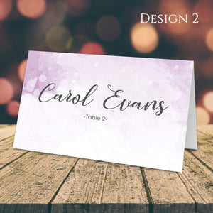 Aspire Designs Personalised Watercolor Design Table Place Name Cards Printed for Weddings, Conferences & Parties Design 2 / 1