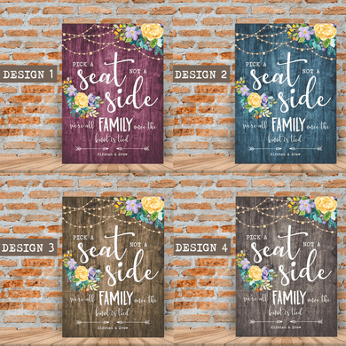 Aspire Designs Personalised Wedding Board Pick a Seat Chart Sign | Wedding Board A1 A2 A3