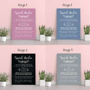 Aspire Designs Personalised Wedding Board Social Media Post Polite Notice Chart Sign | A1 A2 A3