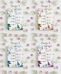 Aspire Designs Personalised Wedding Ceremony and Reception Timeline Cards | Bohemian Flowers