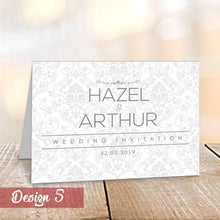Load image into Gallery viewer, Personalised Wedding Day/Evening Invitations | Save the Dates | Folded A5 Cards