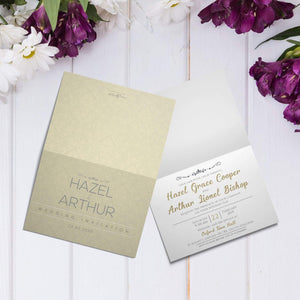 Personalised Wedding Day/Evening Invitations | Save the Dates | Folded A5 Cards