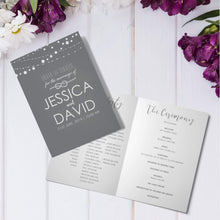 Load image into Gallery viewer, Personalised Wedding Order of Service Folded Cards | A5 Size