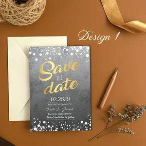 Aspire Designs Personalised Wedding Save The Date Announcement Cards 10 / Yes / Design 1