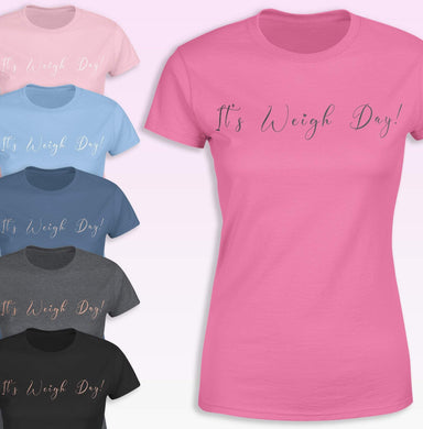 Aspire Designs Personalised Weigh Day T-Shirt, Slimming Group Weigh In, Slogan Style for Women