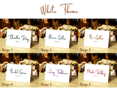 Aspire Designs Personalised White Place Card for Wedding, Conference, Party, and Other Events