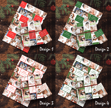 Aspire Designs Personalised Wrapping Paper & Gift Tags | Christmas Birthday Photo Present Wrap