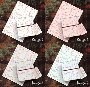 Aspire Designs Personalised Wrapping Paper & Gift Tags | Doodle and Hearts Birthday Present Wrap