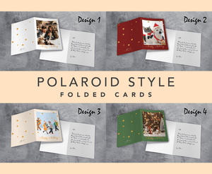 Aspire Designs Polaroid Style | Personalised Christmas or Holiday Greeting A6 Size Folded Cards with or without Envelopes