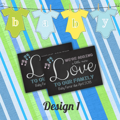 Aspire Designs Pregnancy Announcement Cards | Baby Feet | New Baby Announcement 10 / Yes / Design 1