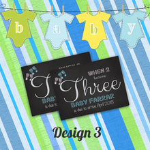 Load image into Gallery viewer, Aspire Designs Pregnancy Announcement Cards | Baby Feet | New Baby Announcement 10 / Yes / Design 3