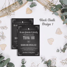 Load image into Gallery viewer, Aspire Designs Premium Personalised Wedding Thank You Cards | Wedding Guest Thanks 10 / Yes / Design 1