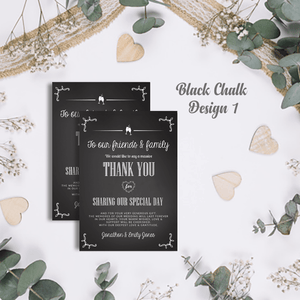 Aspire Designs Premium Personalised Wedding Thank You Cards | Wedding Guest Thanks 10 / Yes / Design 1