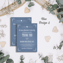 Load image into Gallery viewer, Aspire Designs Premium Personalised Wedding Thank You Cards | Wedding Guest Thanks 10 / Yes / Design 4
