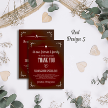 Load image into Gallery viewer, Aspire Designs Premium Personalised Wedding Thank You Cards | Wedding Guest Thanks 10 / Yes / Design 5