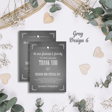Load image into Gallery viewer, Aspire Designs Premium Personalised Wedding Thank You Cards | Wedding Guest Thanks 10 / Yes / Design 6