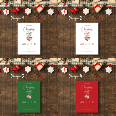 Aspire Designs Simple Theme | Personalised A5 Size Christmas Party Invitations