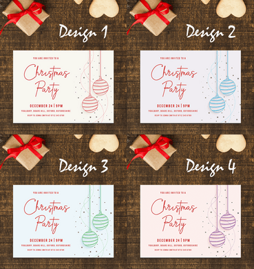 Aspire Designs Starry Christmas Balls | Personalised Christmas Party Invitations