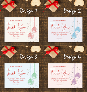 Aspire Designs Starry Christmas Balls | Personalised Christmas Party Thank You Cards