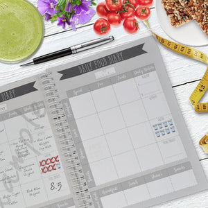 Aspire Personalised Designs Slimming World Compatible Food Diary | Diet Planner | Personal Weight Loss Planner | Black