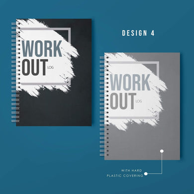 Aspire Personalised Designs Workout Log Book | Gym Routine Planner | Weight Training Fitness Exercise Plan (Black)