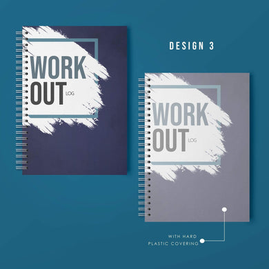 Aspire Personalised Designs Workout Log Book | Gym Routine Planner | Weight Training Fitness Exercise Plan (Blue)