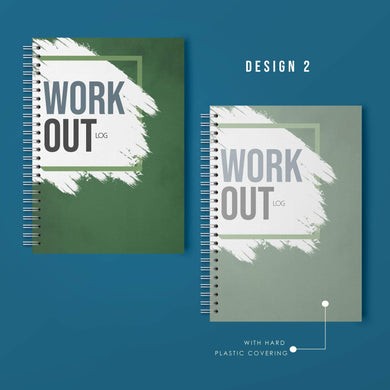 Aspire Personalised Designs Workout Log Book | Gym Routine Planner | Weight Training Fitness Exercise Plan (Green)