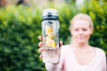 Load image into Gallery viewer, Aspire Infusion - 3-in-1 Fruit Infuser Motivational Water Bottle