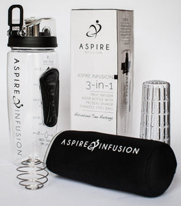 Aspire Infusion - 3-in-1 Fruit Infuser Motivational Water Bottle