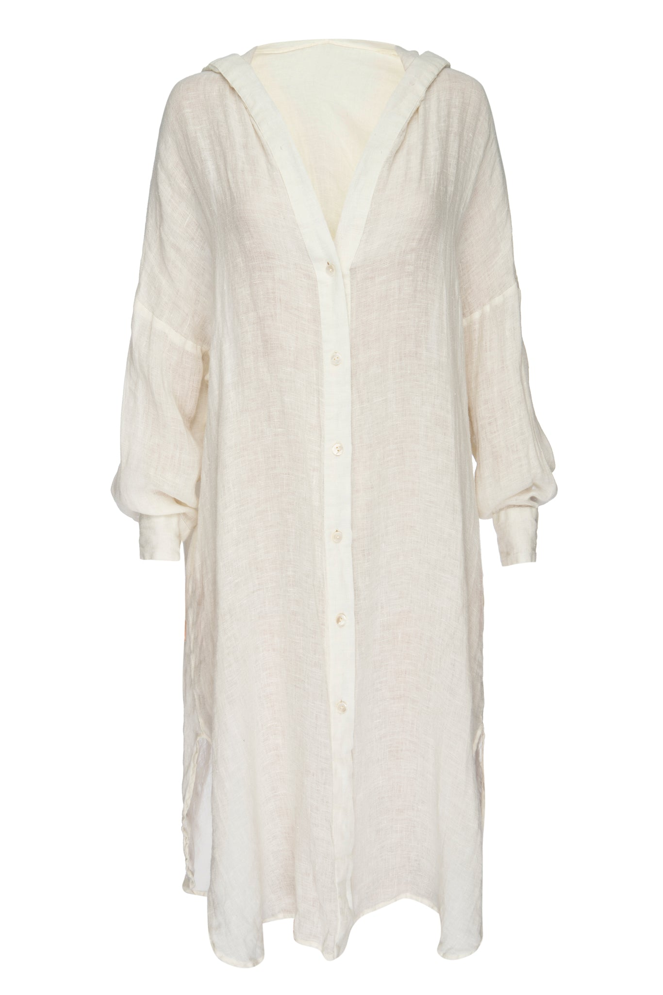 Load image into Gallery viewer, Ibiza Linen Kaftan - Ivory