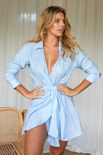 Kythira Dress - Sky Blue