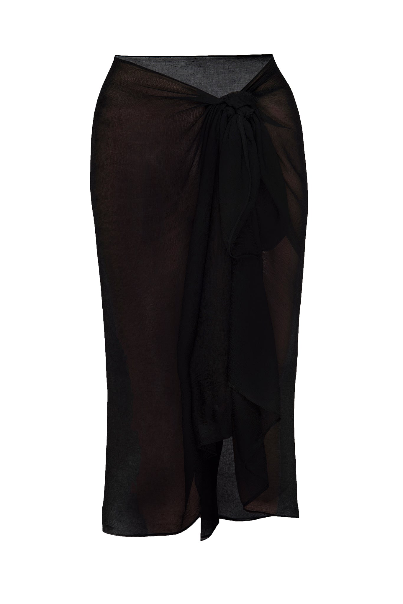 Load image into Gallery viewer, Mykonos Chiffon Sarong - Black