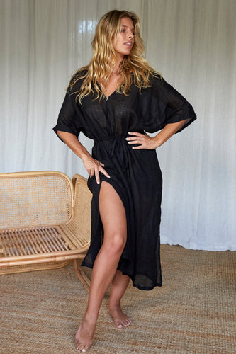 Sorrento Caftan - Black