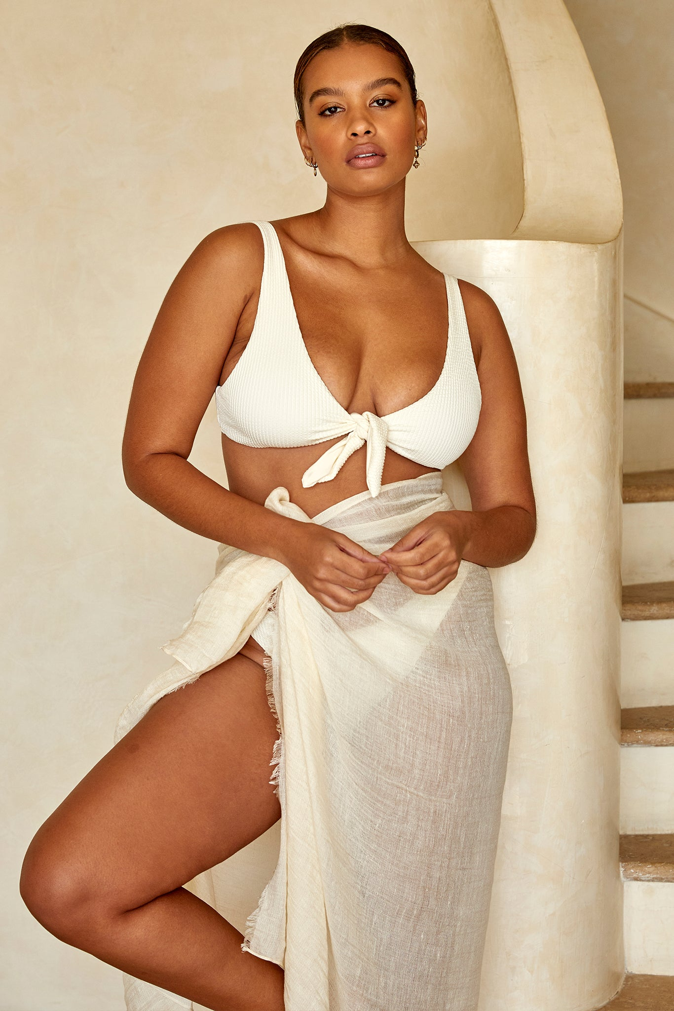 Load image into Gallery viewer, St. Tropez Sarong - Ivory