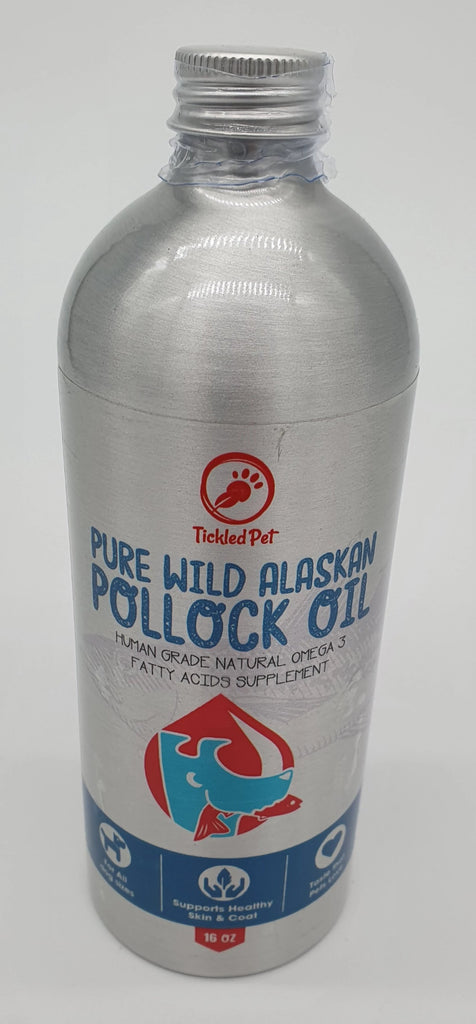 Wild Alaskan Pollock Fish Oil for Dogs & Cats 16 oz - TickledPet