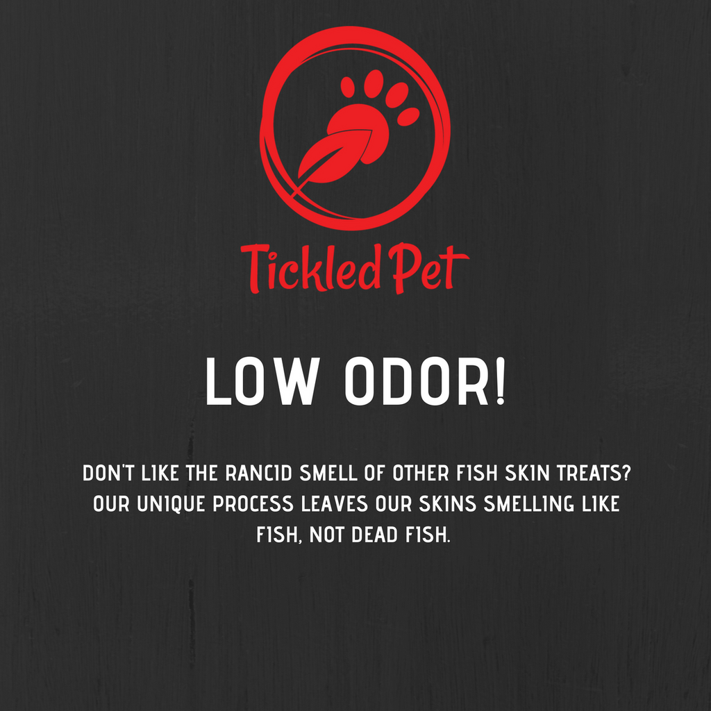 Offer for the smaller dogs! Icelandic Codfish Skin Twist-Rolls Small Bulk 4 LBS for the cost of 3 LBS - TickledPet