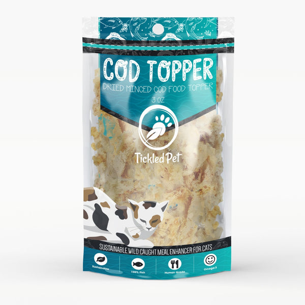 Cod Food Topper for Cats 3 oz TP38 - TickledPet