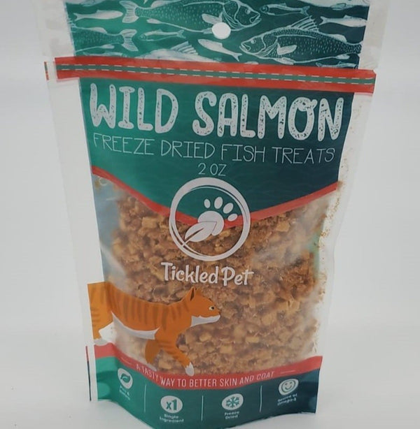 Wild Pacific Freeze Dried Salmon Cat & Dog Treats 2 oz - TickledPet