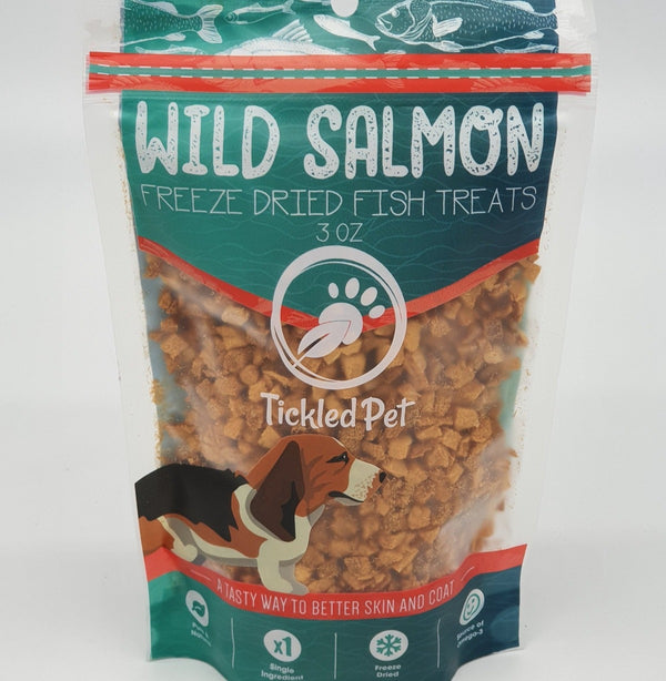 Wild Pacific Freeze Dried Salmon Dog Treats 3 oz - TickledPet