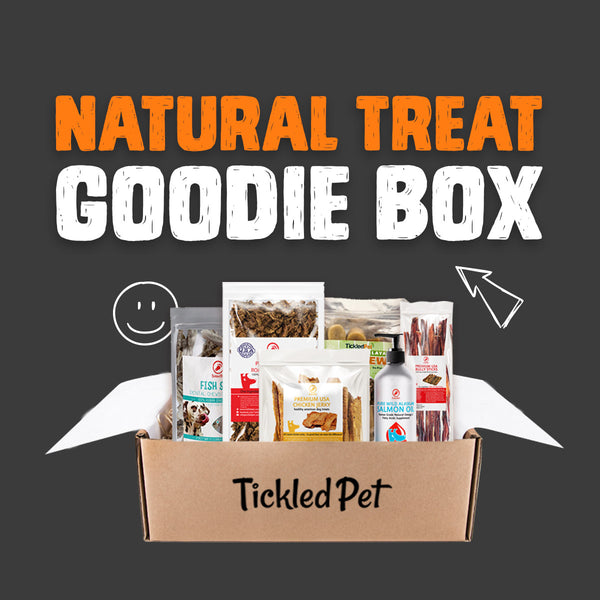 Dog Treat Goodie Box - Natural Treats & Chews - TickledPet