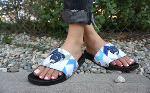 Doggos: Custom Slide Sandals With Your Dog's Face on 'Em!