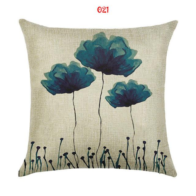 Bloo Fleur! Pillow Cover