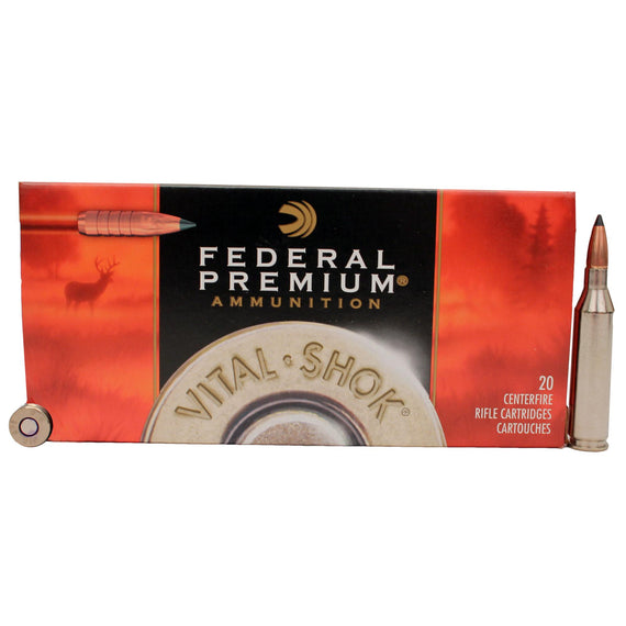 Buy Federal Cartridge - 243 Winchester - Premium Vital-Shok, 85 Grains, Trophy Copper Tipped Boat Tail Lead-Free, Per 20 in Ammunition online at Highball Outfitters - $36.95