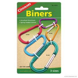 Coghlans - Coghlans Multi-pack Biners, Assorted Color, Package Of 5