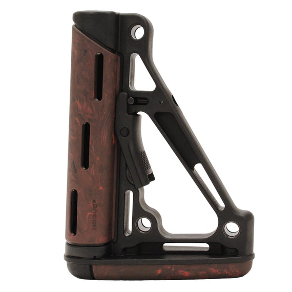 Buy AR15 OMC Buttstock Mil-Spec - Red Lava in Firearm Accessories online at Highball Outfitters - $59.46