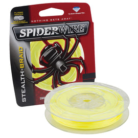 "Buy Spiderwire - Stealth Braid Superline Line Spool - 300 Yards, 0.0015"" Diameter, 65 lbs Break Strength, Hi Vis Yellow in Fishing online at Highball Outfitters - $29.99"