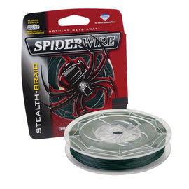 "Buy Spiderwire - Stealth Braid Superline Line Spool - 500 Yards, 0.004"" Diameter, 6 lbs Break Strength, Moss Green in Fishing online at Highball Outfitters - $39.99"
